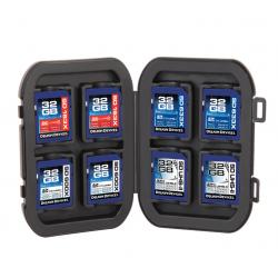 Delkin vodoodporna škatlica za 8 SD kartic