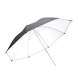 Commlite odbojni dežnik črno/srebrni 102cm