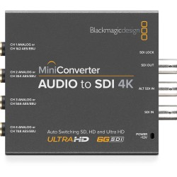 Blackmagic Mini Converter - Audio to SDI 4K