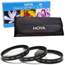 Hoya Close-Up +1, +2, +4 makro komplet predleč