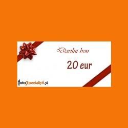 Darilni bon: 20 EUR