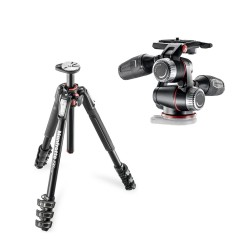 Manfrotto komplet: MT190XPRO4 stojalo + MHXPRO-3W glava