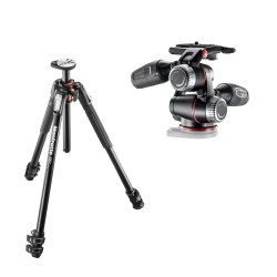 Manfrotto komplet: MT190XPRO3 stojalo + MHXPRO-3W glava
