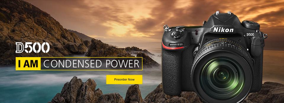 Naroči najnovejši Nikon D500