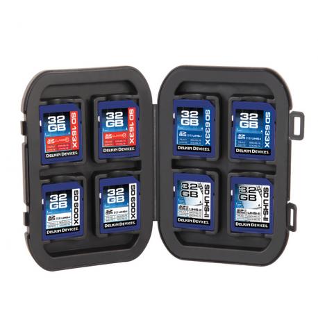 Delkin vodoodporna škatlica za 8 SD spominskih kartic