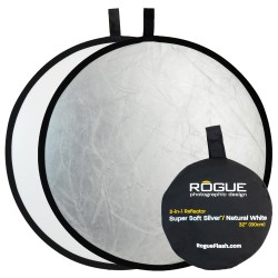 Rogue 80cm 2-in-1 Super Soft Silver / Natural White Reflector