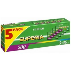 Fujifilm Superia 200 135/36 - 5 Pack