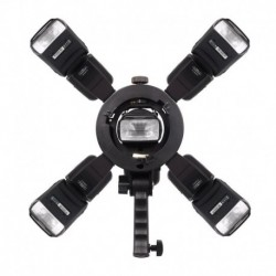 Commlite 4-WAY FLASHGUN Bracket Holder