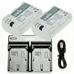 Jupio Duo USB polnilnik + 2 x LP-E6N ULTRA bateriji