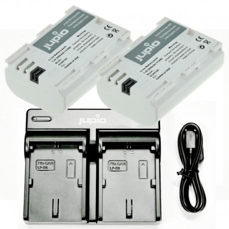 Jupio Kit Duo USB polnilnik + 2 x LP-E6 ULTRA bateriji