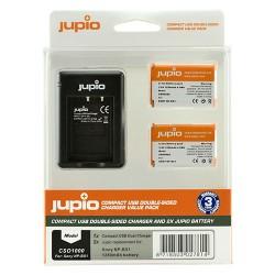 Jupio Kit Duo Compact USB polnilnik + 2 x NP-BX1 bateriji