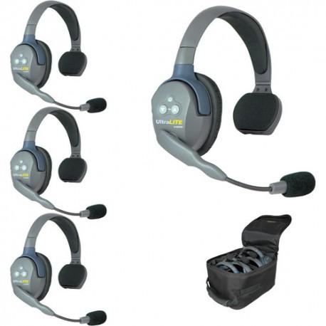 Eartec UltraLITE UL4S komplet štirih interkom slušalk