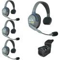 Eartec UltraLITE UL4S HD komplet štirih interkom slušalk