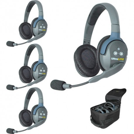 Eartec UltraLITE UL4D komplet štirih interkom slušalk