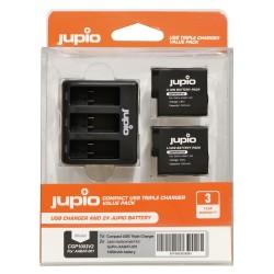 Jupio trojni USB polnilec + 2x baterija za GoPro