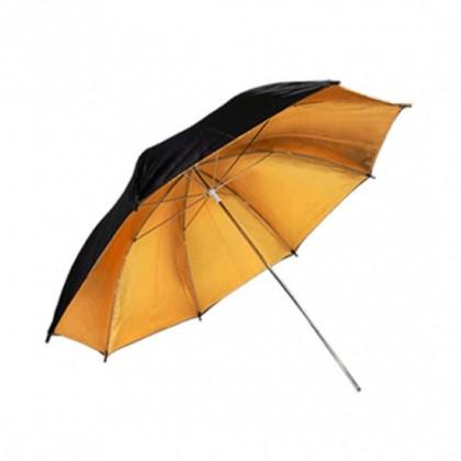 Commlite odbojni dežnik črno/zlati 92cm