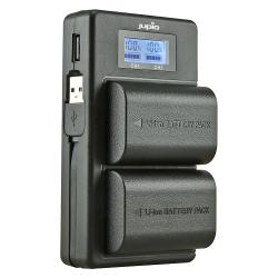 JUPIO USB Duo polnilec za Canon LP-E6 / LP-E6N