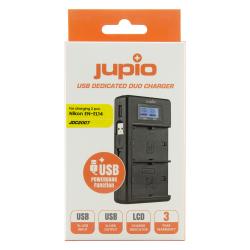 JUPIO USB Duo polnilec za Nikon EN-EL14(A)