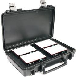 Aputure AL-MC 4-Light Travel Kit + Charging Case
