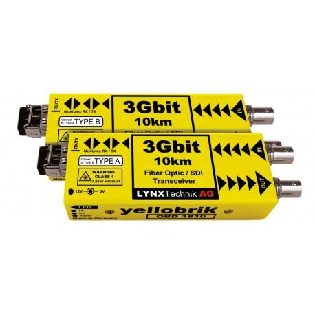 LYNX - OBD 1810 3Gbit Bidirectional SDI/Fiber Transceiver- 10km (Par)