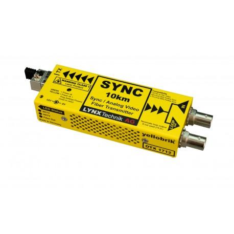 LYNX - OTX 1712 Analog Sync / Video Fiber Optic Transmitter (singlemode LC)