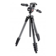 Manfrotto MKCOMPACTADV-BK Compact Advanced (črne barve): Set: stojalo + glava + torba