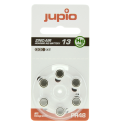 Jupio Hearing Aid 13 Zinc Air Orange PR48 - 6 pcs