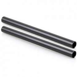 SmallRig 2pcs 15mm Black Aluminum Alloy Rod M12-25cm