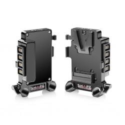 SHAPE Multi D-Tap V-Mount Plate 15mm LWS Rod Mount