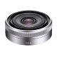 Sony E 16 mm F2,8 objektiv srebrn (SEL16F28)