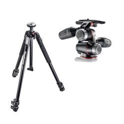 Manfrotto komplet: MT190X3 stojalo + MHXPRO-3W glava