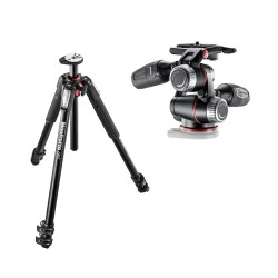 Manfrotto komplet: MT055XPRO3 stojalo + MHXPRO-3W glava