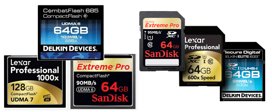 Spominske kartice, SSD, USB