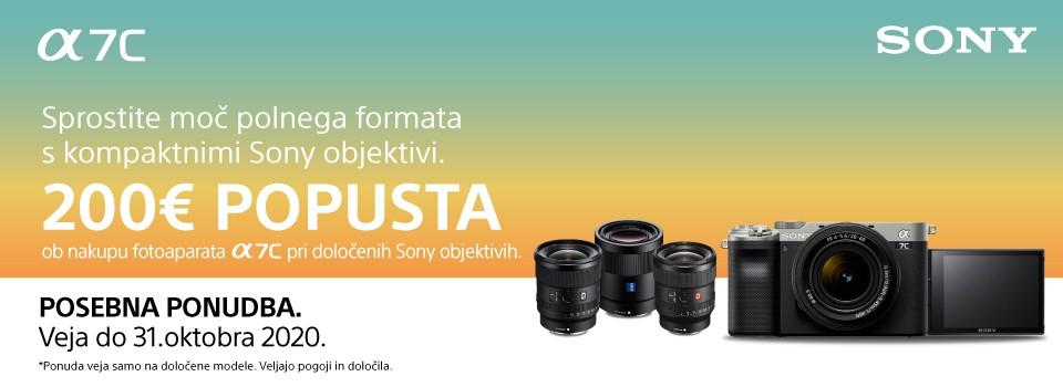 Sony a7c - s prednaročilom do ugodne ponudbe