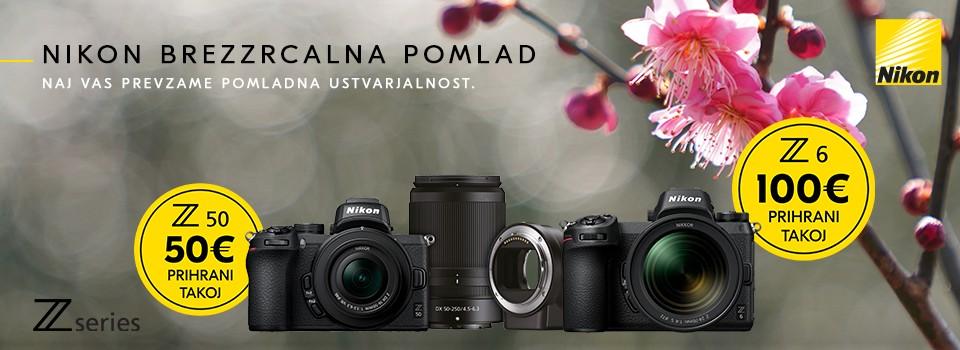 Nikon akcija brezzrcalnih fotoaparatov