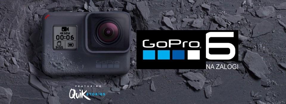 Gopro 6 Black je na zalogi